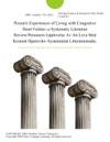 Persons Experiences Of Living With Congestive Heart Failure--a Systematic Literature ReviewPersoners Upplevelse Av Att Leva Med Kronisk Hjartsvikt--Systematisk Litteraturstudie
