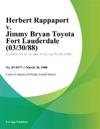 Herbert Rappaport V Jimmy Bryan Toyota Fort Lauderdale