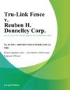 Tru-Link Fence V Reuben H Donnelley Corp