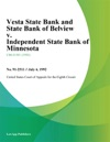 Vesta State Bank And State Bank Of Belview V Independent State Bank Of Minnesota
