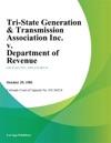 Tri-State Generation  Transmission Association Inc V Department Of Revenue
