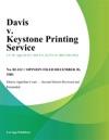 Davis V Keystone Printing Service