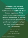 The Validity Of Osullivans Classification System CS For A Sub-Group Of NS-CLBP With Motor Control Impairment MCI Overview Of A Series Of Studies And Review Of The Literaturela Validita Del Sistema Di Classificazione Di Osullivan Per Un Sottogruppo Di Pazienti Con Lombalgia Cronica Non Specifica Con Impairment Del Controllo Motorio MCI Panoramica Di Una Serie Di Studi E Revisione Della Letteratura RECENSIONE Report