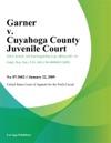 Garner V Cuyahoga County Juvenile Court