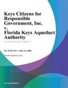 Keys Citizens For Responsible Government