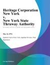 Heritage Corporation New York V New York State Thruway Authority