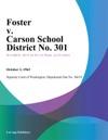 Foster V Carson School District No 301