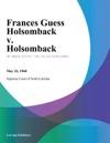 Frances Guess Holsomback V Holsomback