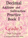 Decimal Addition And Subtraction Practice Book 1 Grade 5