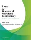 Lloyd V Warden Of Maryland Penitentiary