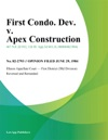 First Condo Dev V Apex Construction