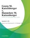 Georg M Katzenberger V Hannelore M Katzenberger