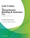 Lake County V Massachusetts Bonding  Insurance Co