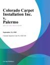 Colorado Carpet Installation Inc V Palermo