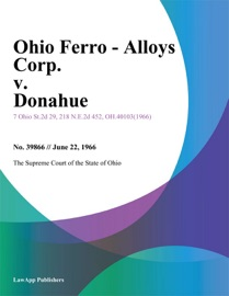 OHIO FERRO - ALLOYS CORP. V. DONAHUE