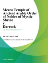 Mecca Temple Of Ancient Arabic Order Of Nobles Of Mystic Shrine V Darrock
