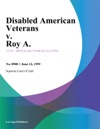 Disabled American Veterans V Roy A