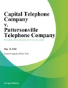 Capital Telephone Company V Pattersonville Telephone Company