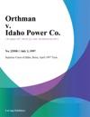 Orthman V Idaho Power Co