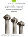 Application Of Gordons Constant-Growth Dividend Valuation Model To Estimating Retirement Funding Requirements Manuscripts