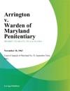 Arrington V Warden Of Maryland Penitentiary