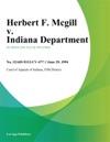 Herbert F Mcgill V Indiana Department