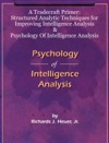 A Tradecraft Primer Structured Analytic Techniques For Improving Intelligence Analysis    Psychology Of Intelligence Analysis
