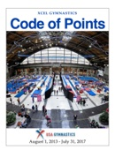 USA Gymnastics Xcel Code of Points - USA Gymnastics Xcel Committee Cover Art