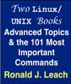 Two LinuxUNIX Books- Advanced Topics  The 101 Most Important Commands