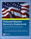 FEMA National Disaster Recovery Framework NDRF - Strengthening Disaster Recovery For The Nation - Core Recovery Principles Guidance For Planning Community Focus