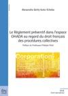 Le Rglement Prventif Dans Lespace OHADA Au Regard Du Droit Franais Des Procdures Collectives