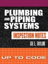 Plumbing And Piping Systems Inspection Notes