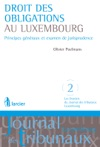 Droit Des Obligations Au Luxembourg