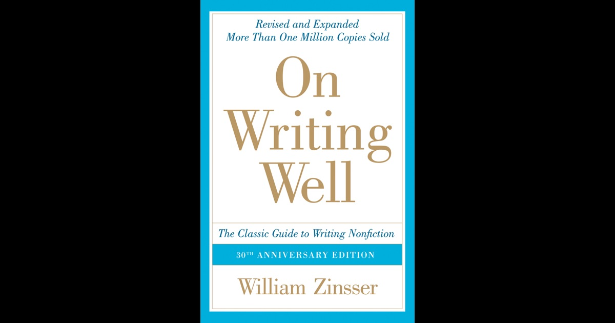 Help on writing zinsser