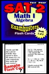 SAT 2 Math Level I Test Prep Review--Exambusters Algebra Flash Cards--Workbook 1 Of 2