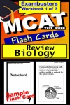 MCAT Test Prep Biology Review--Exambusters Flash Cards--Workbook 1 Of 3