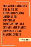 Scientific American Vol17 No26 December 28 1867 Journal Or Practical Information Art Science Mechanics Chemistry And Manufactures