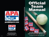 Official APA/CPA Pool Leagues Team Manual