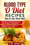 Blood Type O Diet Recipes Diet For Your Blood Type Including List Of Best Meats  Foods To Eat And Avoid 7 Day Breakfast Lunch Snack  Dinner Meal Plan