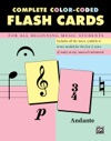 89 Color-Coded Music Theory Flash Cards
