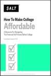 How To Make College Affordable A Resource For Navigating The Financial Aid Process Before College