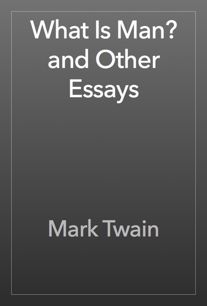 whats a man essay