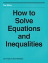 How To Solve Equations And Inequalities