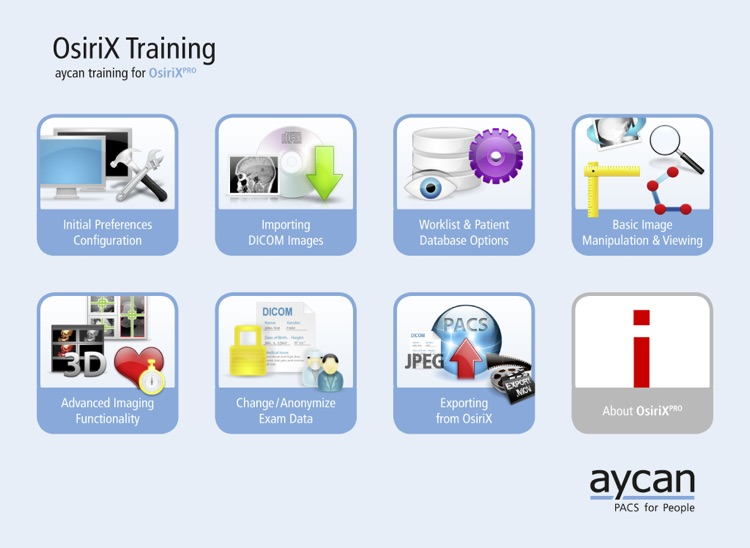 OsiriX PRO Video Tutorials by aycan