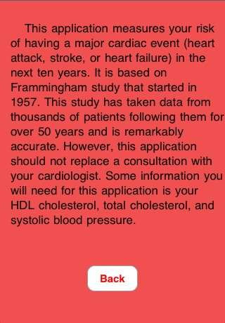 Heart Disease Risk Calculator screenshot 1
