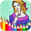 Princess Fairy Coloring Book - Kids Coloring Doodle Pad icon