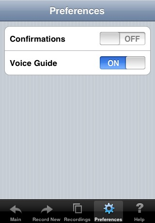 Screenshot of Voice Dial (speech recognition app)