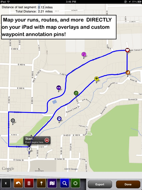 Draw A Map Route on
