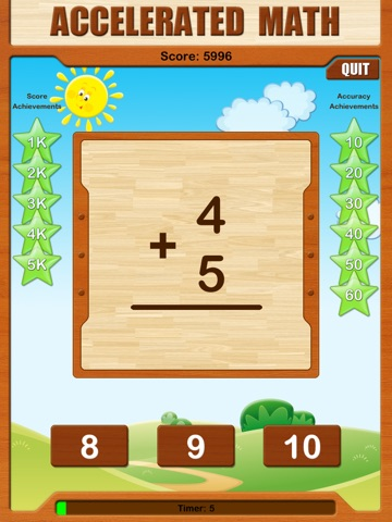 Ace Speed Math HD screenshot 1