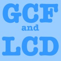 GCF and LCD (Greatest Common Factor and Lowest Common Divisor) icon